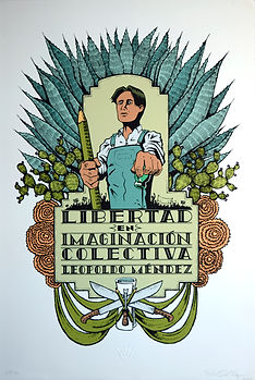 Libertad en Imaginacion Colectiva, silkscreen (screenprint) from Self Help Graphics and Art, a participating taller of the Consejo Grafico Nacional consortium of Latinx printaking studios in the United States