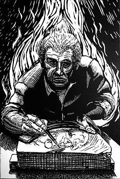 Luis Jimenez; Fuego y Piedra.jpg