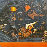 """Homesick"" Victor Rosas Mono Gráfico Colectivo Linocut 11"" x 15"" 2019"