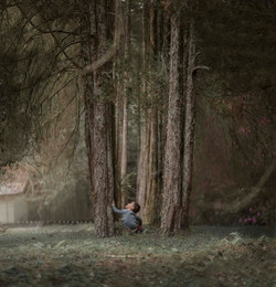 menino no bosque