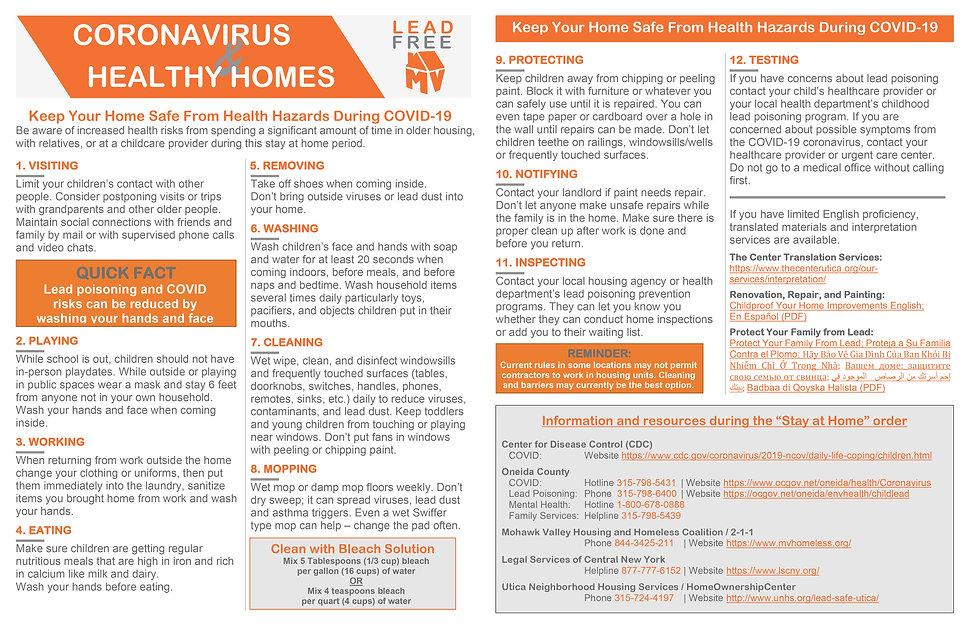 COVID Healthy Homes Fact Sheet 11x17 - F