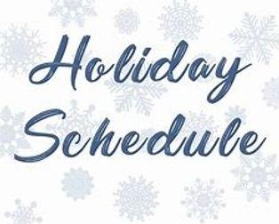 holiday schedule.jfif