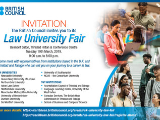 University of Law Fair 2019. Students are invited to attend the upcoming University of Law Fair at t