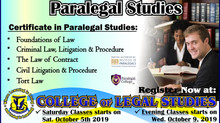 Up Coming Paralegal Course. Register NOW!!