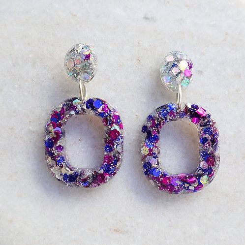 Galactic glitter earrings