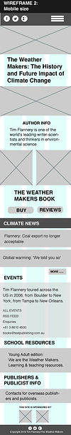 The Weather Maker's Mobile Wireframe Redesign
