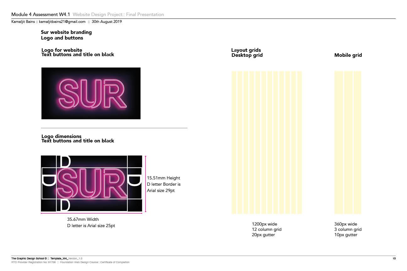 Sur Logo & Grid Layout