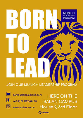 'Born To Lead' Leaflet Design 2