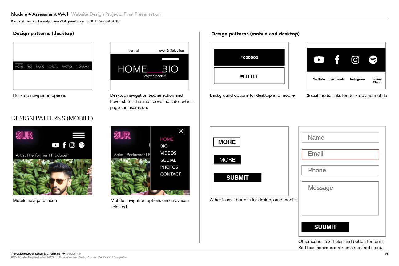 Sur Website Design Patterns
