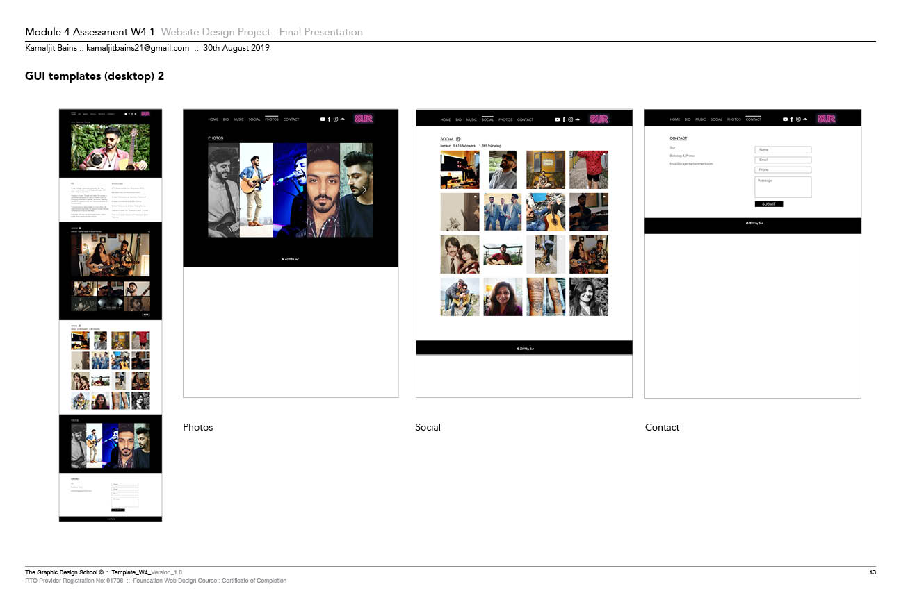 Sur Website Prototype In Adobe XD 2