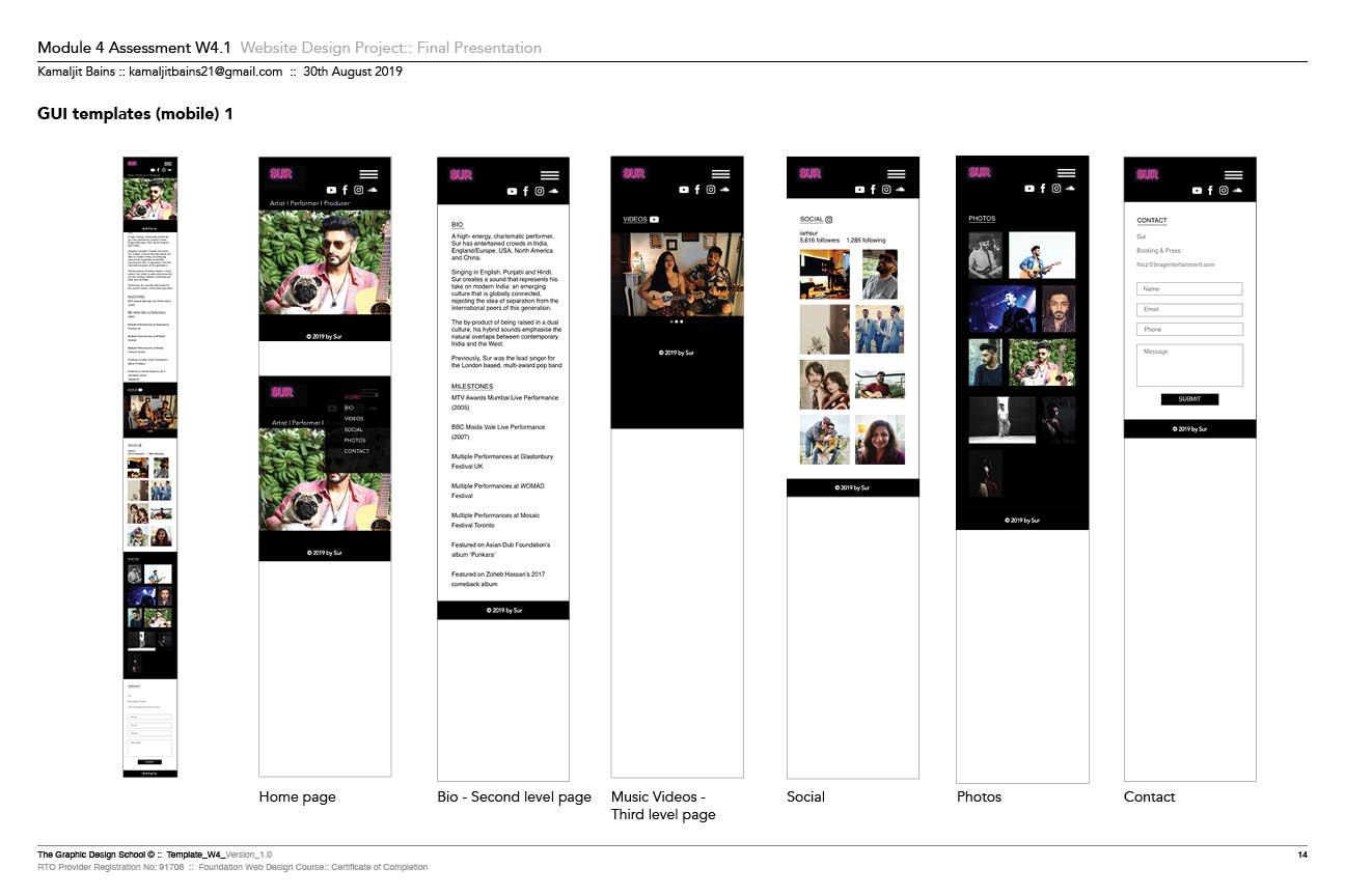 Sur Mobile Prototype In Adobe XD