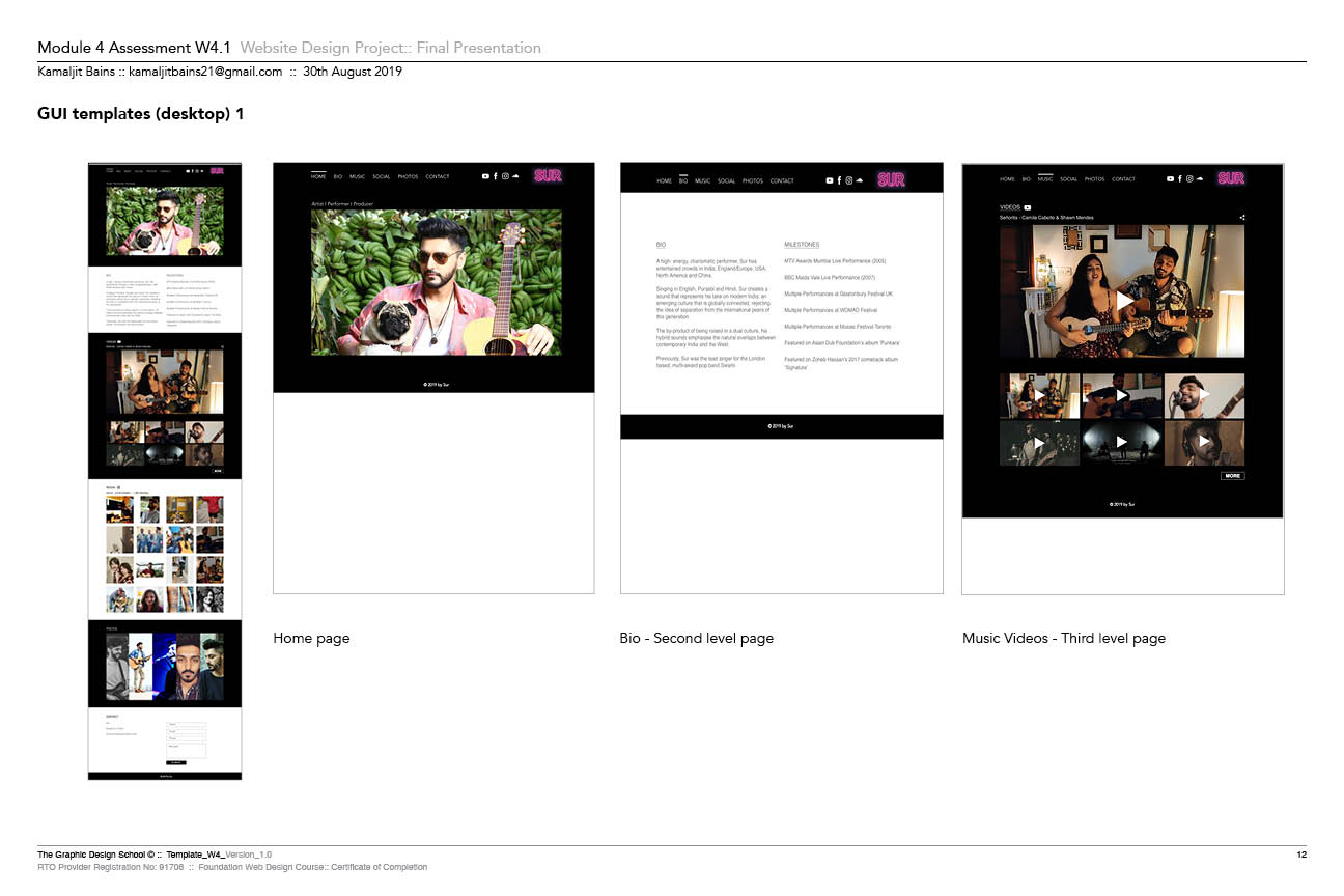 Sur Website Prototype In Adobe XD 1