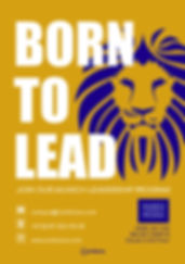 'Born To Lead' Leaflet Design 1