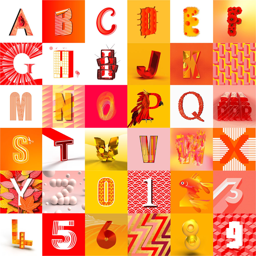 36 Days of Type Collage