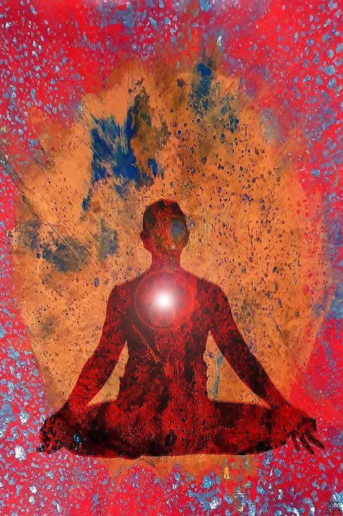 Seated meditation red (heart chakra)
