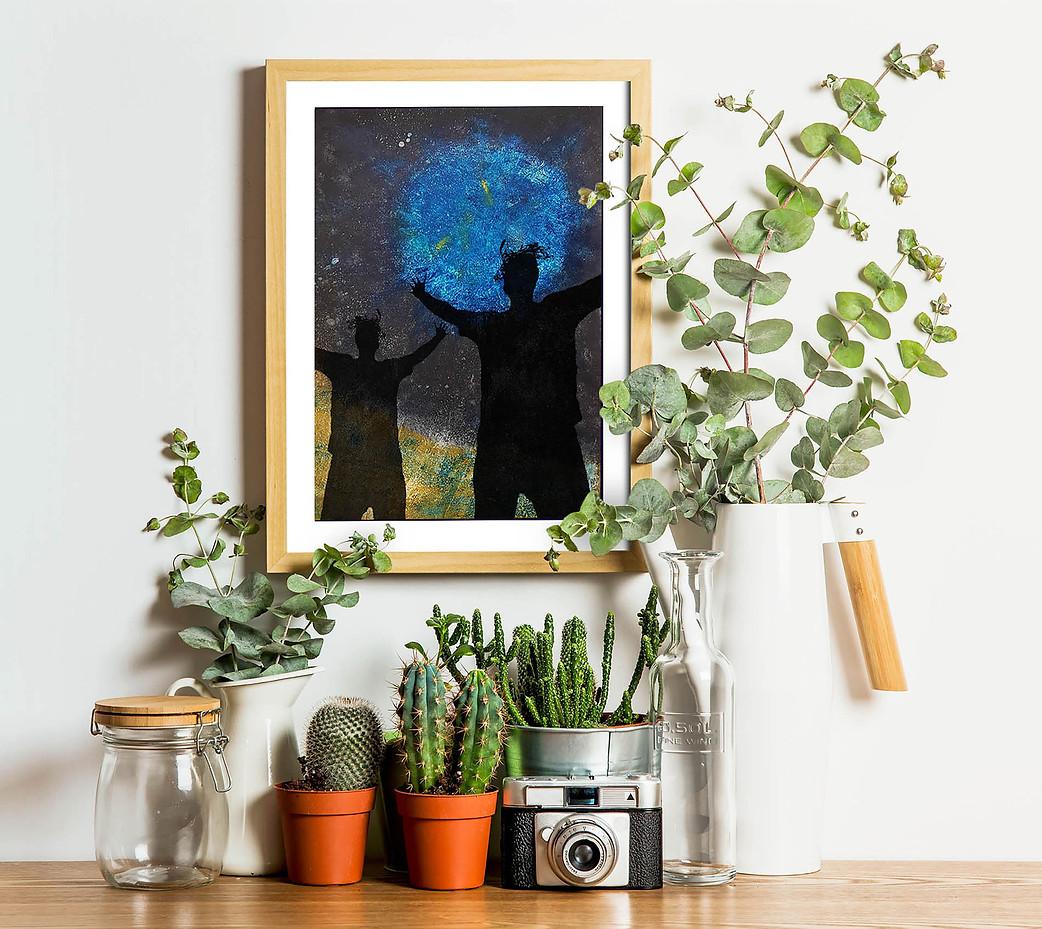 Bill dances under the blue moon