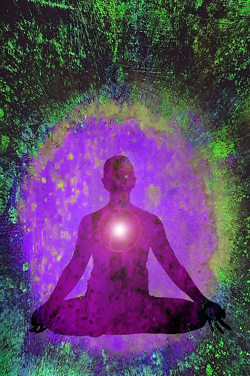 Seated meditation purple (heart chakra)