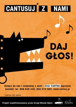 Plakat Cantusuj z nami dla Chóru Cantus.