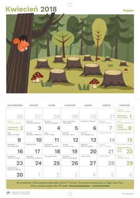Projekt kalendarza. Przykładowe strony.