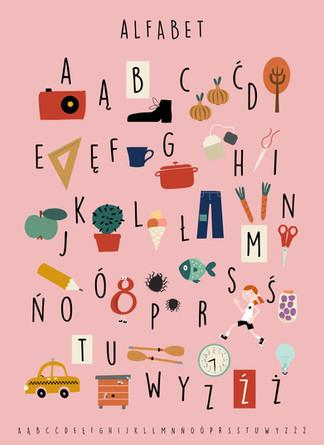 Plakat Alfabet. 2018