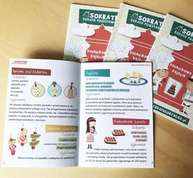 Projekt graficzny książki z przepisami kulinarnym.