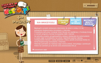 Projekt strony internetowej. Kliknij