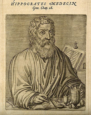 hippocrates engraving 1584 CC BY 4.0 Wel