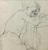 167 Resting Nude pencil 23x23.jpg