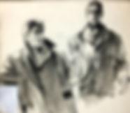 4 Two Men in Overcoats Ink&wash 41x47.jp