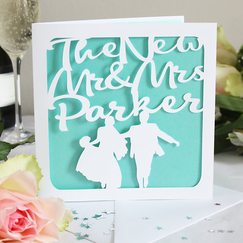 The New Mr & Mrs Personalised Card