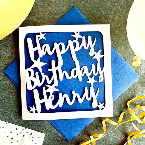 Personalised Stars Birthday Card