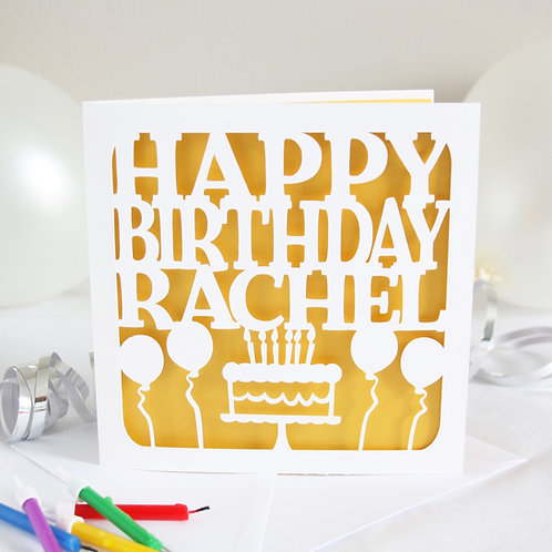 Personalised Cake Birthday Card