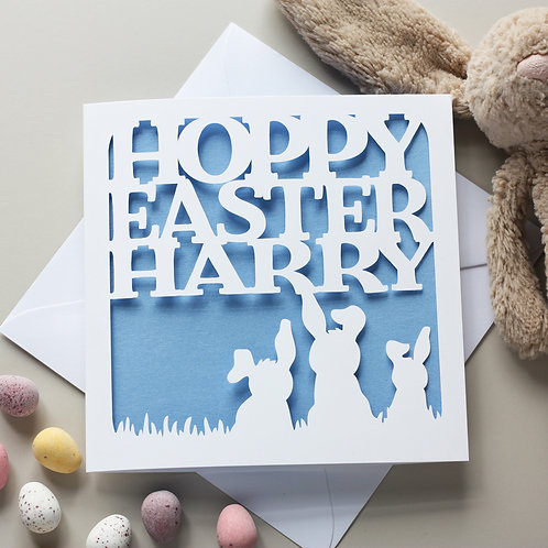Hoppy Easter Personalised Card