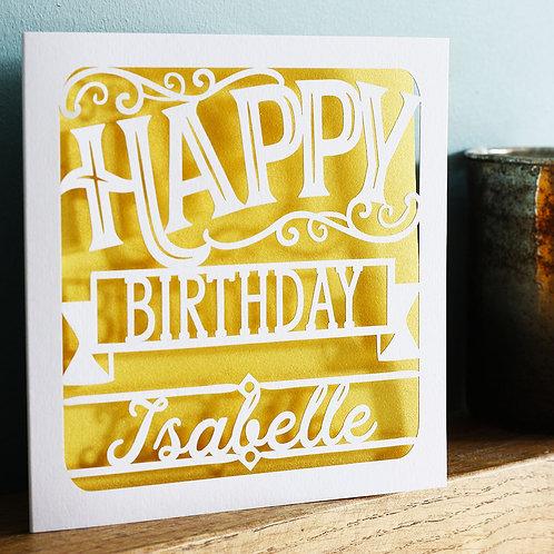 Papercut Birthday Card