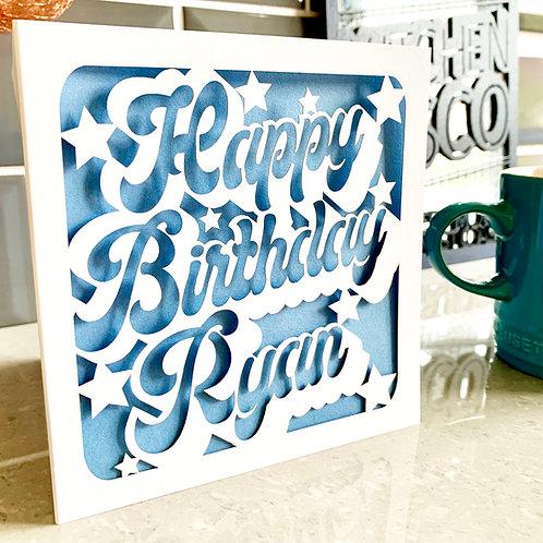 Personalised Groovy Birthday Card