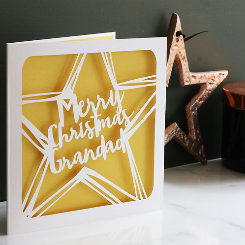 Personalised Christmas Star Card