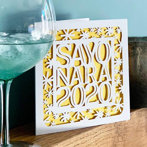 Sayonara 2020 Christmas Card