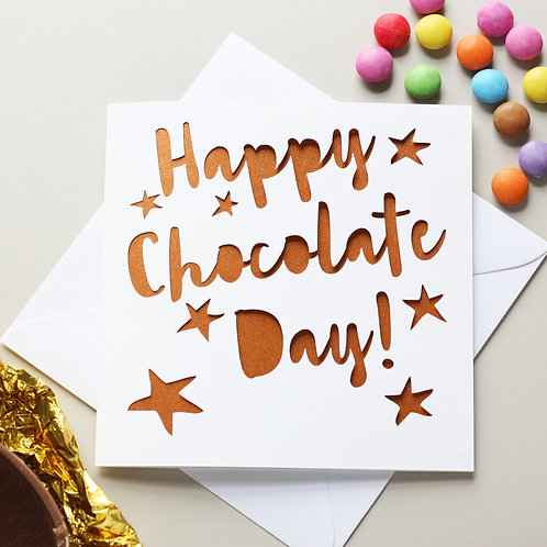 Chocolate Day Easter Card