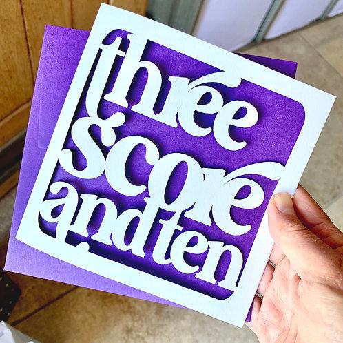 Three Score and Ten Birthday Card
