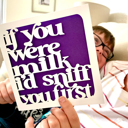 Sniff You Funny Birthday Card