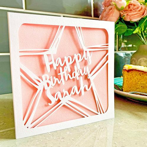 Personalised Star Birthday Card