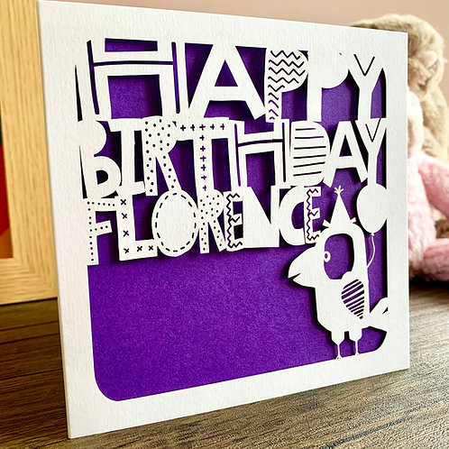 Personalised Bird Birthday Card