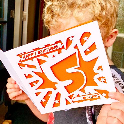 Personalised Kids Age Birthday Card