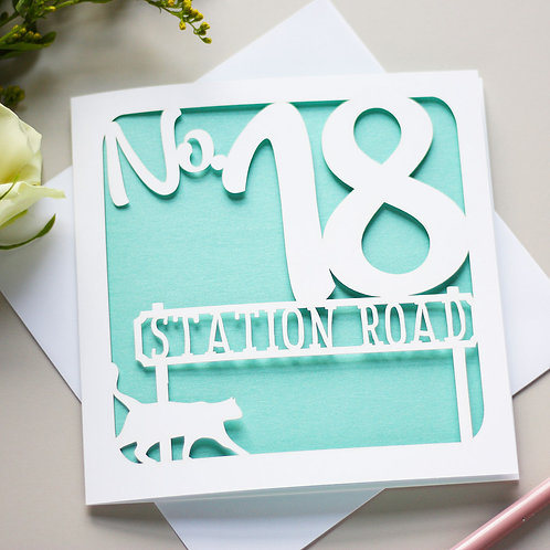 Personalised New Home Address Card