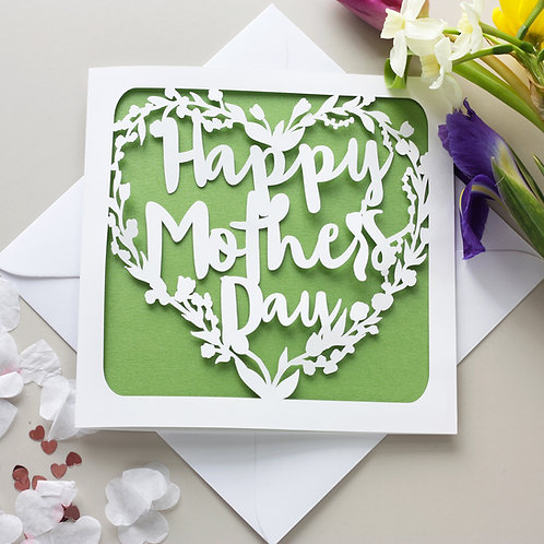 Mother's Day Papercut Card