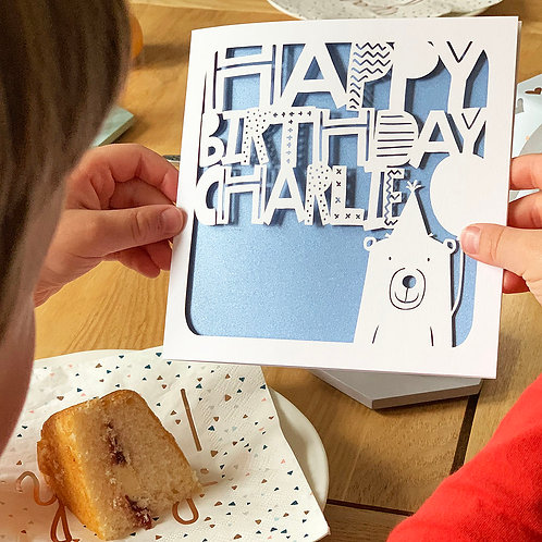 Bear Personalised Birthday Card