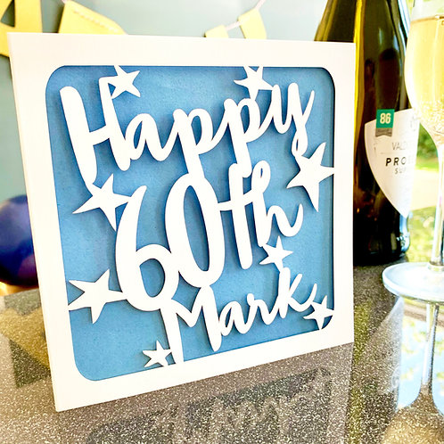 Personalised 60th Birthday Card
