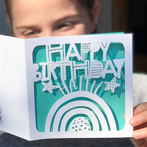 Rainbow Personalised Birthday Card