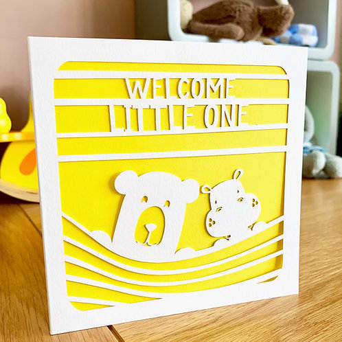 Peeping Bears New Baby Card