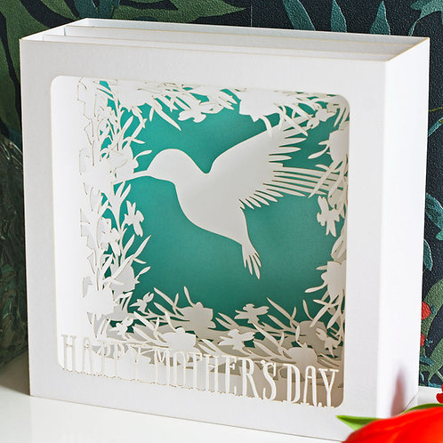 Hummingbird Mother's Day Pop-Up Card